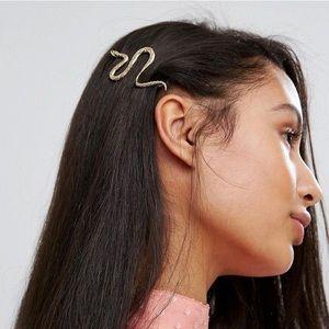 Gold snake Hair Clip | Snake Hair Pin